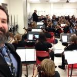Mr. Broach taking a selfie w/ MSN & MSS 6th Grade Orchestra.